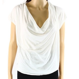 Free People NEW Bright White Women's Size Small S Cowl Neck Knit Top