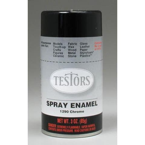 Testor 1290 Chrome Hobby/Model Spray Enamel, 3 Oz.