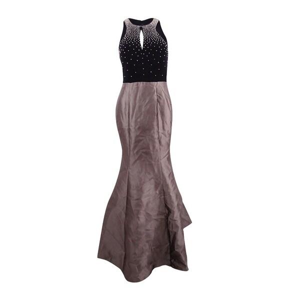 Xscape Women\'s Embellished Open-Back Mermaid Gown - black combo ...