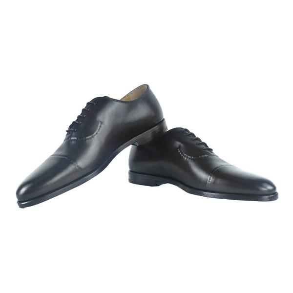Black Dress Shoes for Men Wizfort Leather Sole Lace Up Shoes