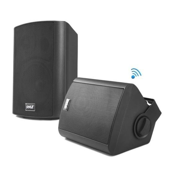 Wall Mount Waterproof & Bluetooth 6.5'' Indoor / Outdoor Speaker System, Black