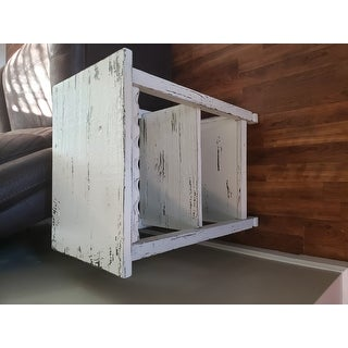Alaterre Country Cottage Distressed Wood 2-shelf End Table