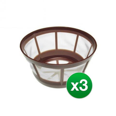Mr Coffee Reusable Filter For 8 & 12 Cup Basket Filter (3 Pack)