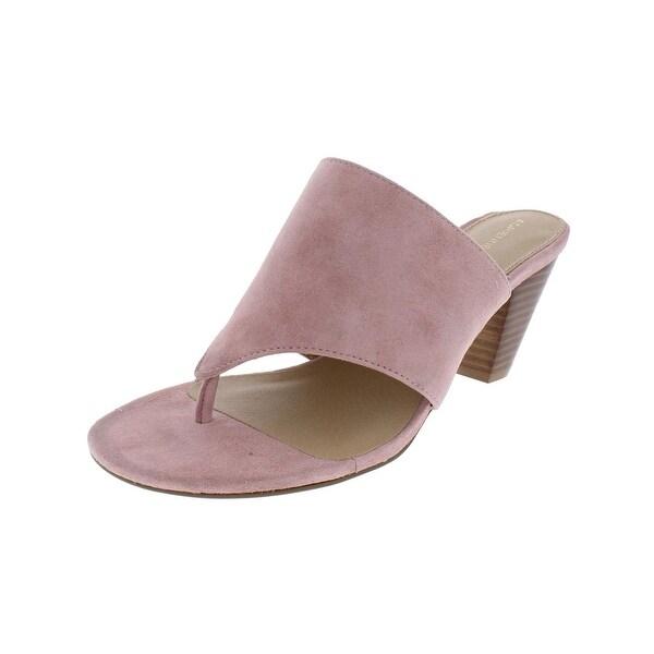 Adrienne Vittadini Womens Prusha Dress Sandals Suede Thong