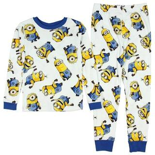 Despicable Me Minions All Over Print Big Boys' 2-Piece Cotton Pajama Set|https://ak1.ostkcdn.com/images/products/is/images/direct/861789e6cab8f2b34d25de60c2797f6ece7f9e8f/Despicable-Me-Minions-All-Over-Print-Big-Boys%27-2-Piece-Cotton-Pajama-Set.jpg?impolicy=medium