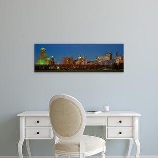 Easy Art Prints Panoramic Images's 'Buffalo, Skyline at Dusk, New York' Premium Canvas Art