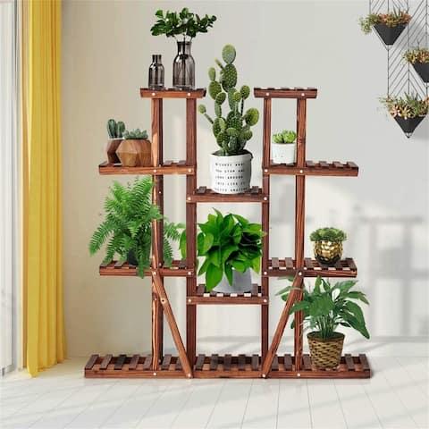 Wood Plant Stand Flower Pots Holder Shelf Indoor Outdoor Stand Rack