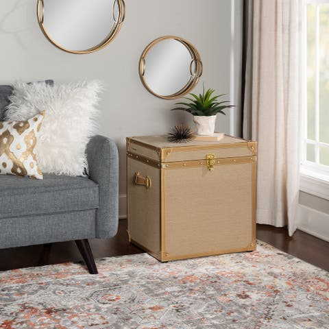 Durant Linen and Gold Trunk