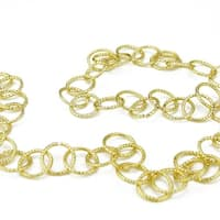 6' Shimmering Gold Contemporary Style Round Circle Chain Christmas Garland