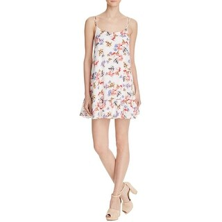 Cotton Candy Womens Casual Dress Cross-Back Floral Print