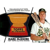 Signed McGwire Mark Oakland Athletics Mark McGwire 2014 Topps Commemorative AllStar Rookie Team Pat