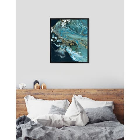 Oliver Gal 'Inlet' Abstract Framed Wall Art Print