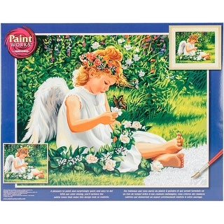 "Paint Works Paint By Number Kit 20""X16""-Darling Angel"