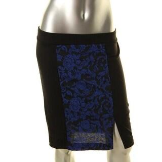 Erik + Lani Womens Juniors Knee-Length Printed A-Line Skirt - M