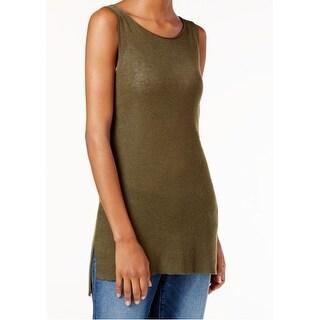 Eileen Fisher NEW Green Women's Size Medium M Tunic Tank Cami Wool Top