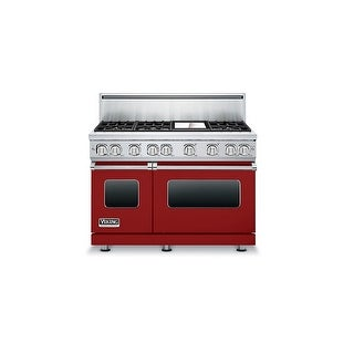 Viking VGR7486G 48 Inch Wide 5.7 Cu. Ft. Free Standing Natural Gas Range with VariSimmer Setting, Six Burners, and Griddle from