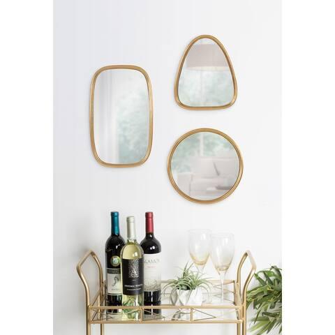 Kate and Laurel Caskill Mid-Century Geometric Mirror Set - 3 Piece