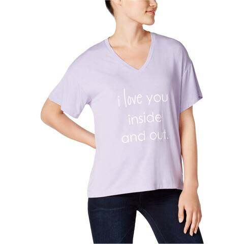 Peace Love World Womens I Love You Graphic T-Shirt