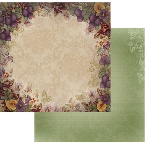 "Hearts Ease Double-Sided Paper 12""X12""-Orchard Bouquet"
