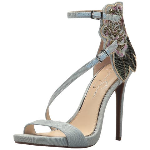 f704db67256 Jessica Simpson Womens Reesa Leather Open Toe Ankle Strap D-orsay Pumps