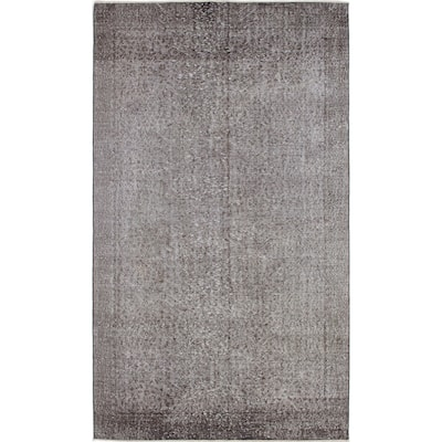 """ECARPETGALLERY Hand-knotted Color Transition Grey Wool Rug - 5'3"""" x 8'10"""""""