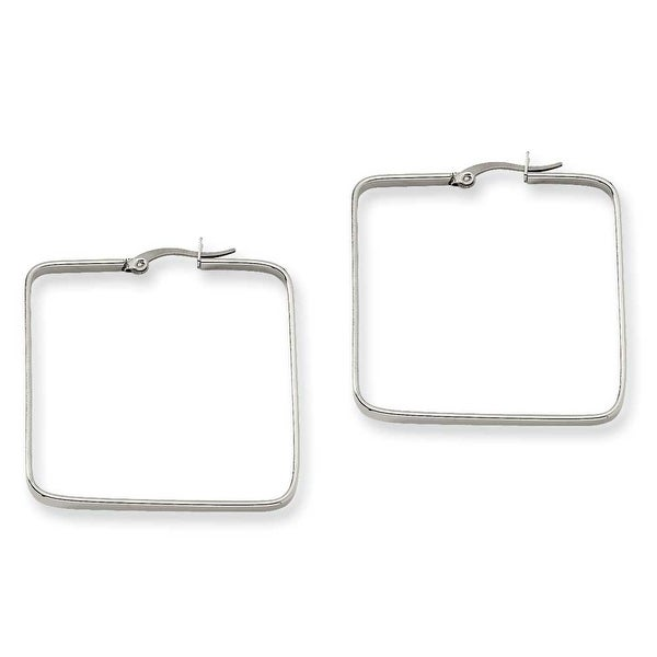 Chisel Stainless Steel 38mm Square Hoop Earrings