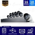 SDH-C75100 - Samsung 16 Channel 1080p HD 2TB Security System with 10 Cameras (Refurbished) - Thumbnail 0