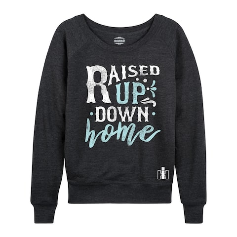 Case IH - Raised Up Down Home - Women's Lightweight French Terry Pullover