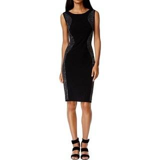 Calvin Klein Womens Cocktail Dress Embellished Sleeveless