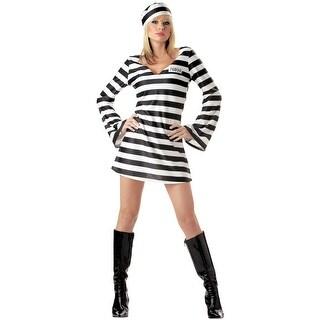 California Costumes Convict Chick Adult Costume - Black/White