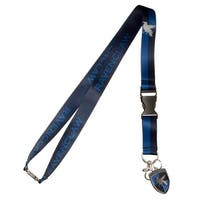 """Harry Potter Ravenclaw Lanyard, Multicolor, 25"""" w/ Charm and Detachable ID Holder - One Size Fits Most"""