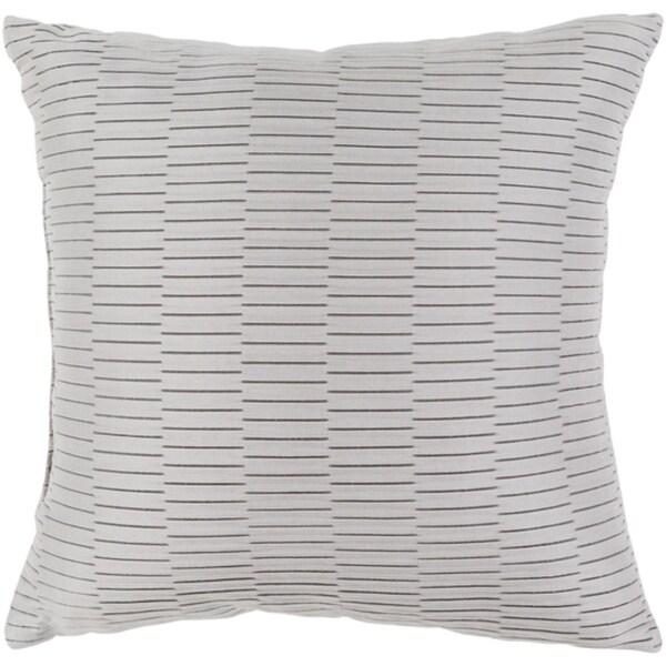 """16"""" Silver Gray Caplin Style Throw Pillow"""