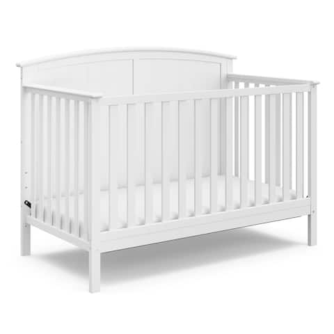 Storkcraft Steveston 4-in-1 Convertible Crib - Converts to Toddler Bed, Daybed, and Full-Size Bed, 3 Adjustable Mattress Heights