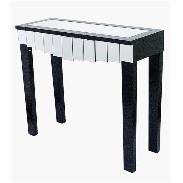 Shop Catherine 1 Drawer Mirrored Console Table Black Free