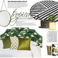 """G Home Collection Luxury Green Braid Textured Quilting Pillow 24""""X24"""" - Thumbnail 4"""