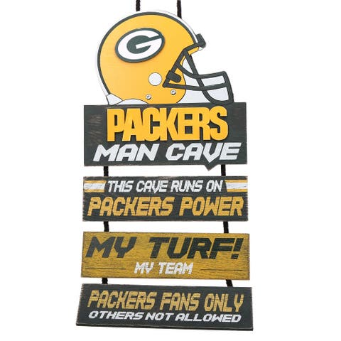 Green Bay Packers 2018 Man Cave Hanging Wall Sign