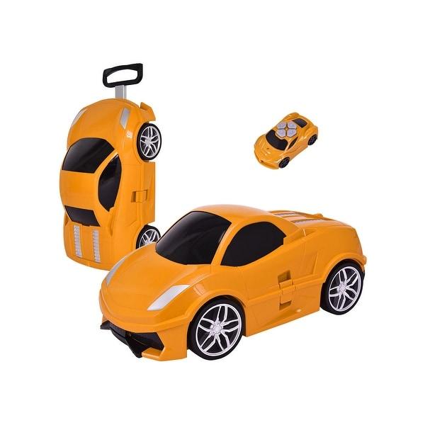 Gymax Car Shape Radio Control Kid Pull Along Travel Case Suitcase Trolley  Luggage ebf0bf31c