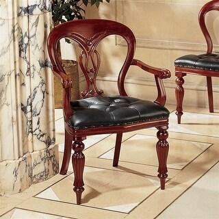 Design Toscano Simsbury Manor Leather Arm Chair
