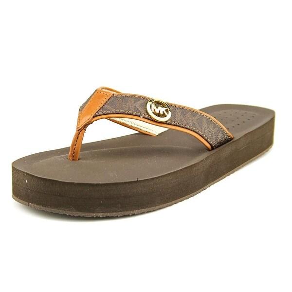 59e06d631 Michael Michael Kors Gage Women Open Toe Synthetic Brown Flip Flop Sandal