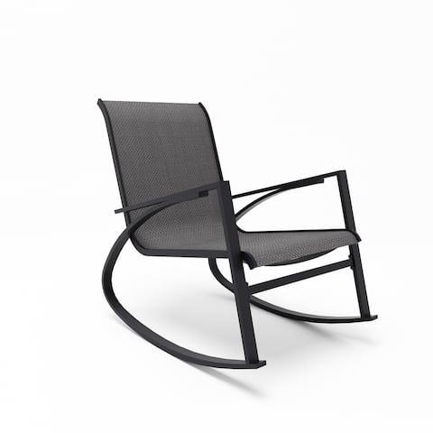 Corvus Antonio Outdoor Sling Fabric Rocking Chair