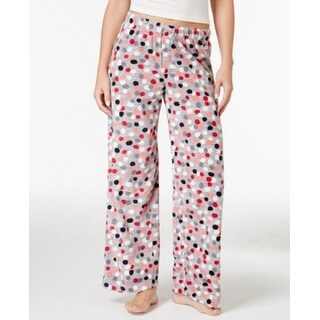 Hue NEW Gray Womens Size 1X Plus Polka-Dot Print Lounge Sleepwear Pants