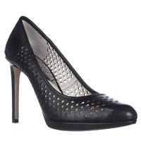 Michael Kors Florentine Perforated Pumps, Black Leather - 9 us