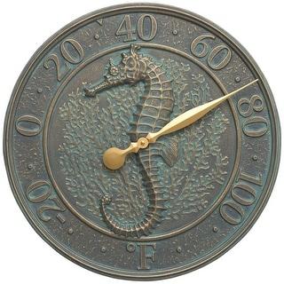 Whitehall Sealife Thermometer (Bronze Verdgris) - Bronze
