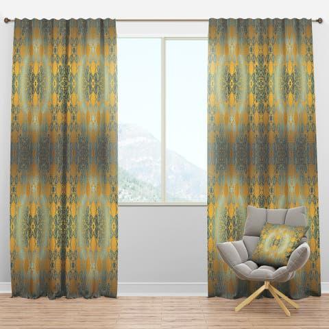 Designart 'Glam Flowers Decorative' Glam Blackout Curtain Panel