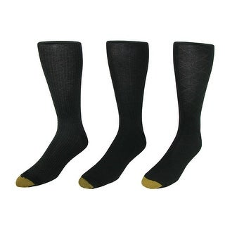 Gold Toe Men's Over the Calf Moisture Control Fashion Socks (Pack of 3), 12 - 16 - pack e - One Size