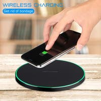 QI Wireless Fast Charger Charging For Apple iPhone X 10 8 Plus  Pad Mat Metal,color Black
