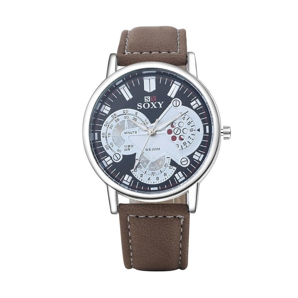 Faux Leather European Design Watch - Tan