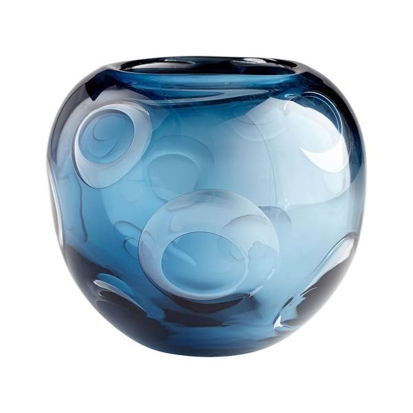 "Cyan Design Electra Vase Electra 7"" Tall Glass Vase - Blue - N/A"