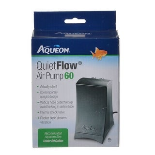 Aqueon QuietFlow Air Pump Air Pump 60 - (Up to 60 Gallon Aquariums)