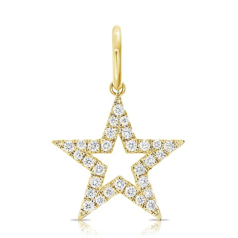 Diamond Star Charm 14K Yellow Gold